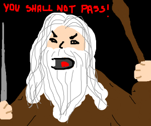YOU SHALL, NOT PASS!