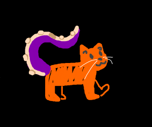 Cat with octopus tails