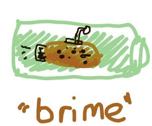 potato sub in pickle brime