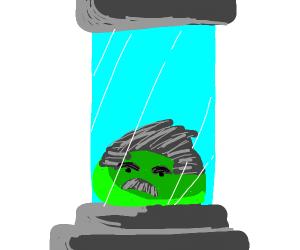 Joseph Stalin as a green blob