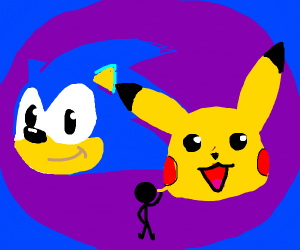 three year old dre pikachu and sonic