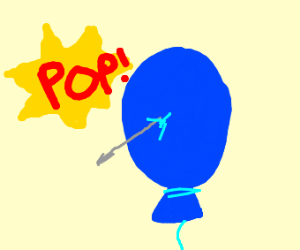 Popping a balloon