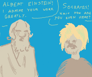 Geniuses compliment eachother