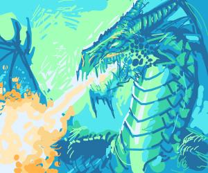 Epic Fire-Breathing Dragon!