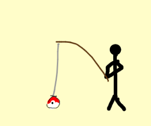 pokeball is like a fish bait