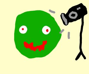 zombie close-up