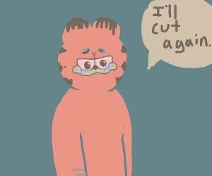 Garfield Threatens self harm