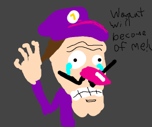 Waluigi distraught about his fate