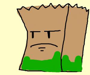 Barf bag hates his job