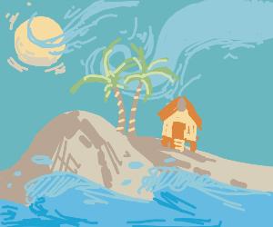 House on a beach