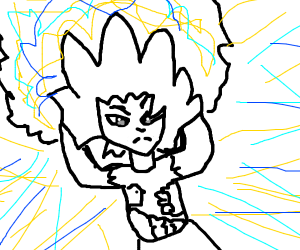 Anime char ready to release his power
