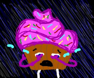 Sad cupcake :'(