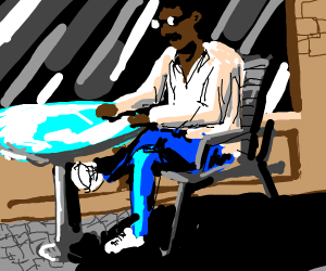 Guy at a coffee shop