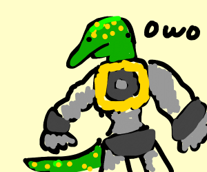Half lizard half robot owo