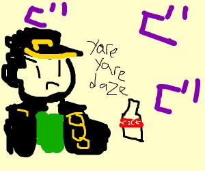 Hat Kid offers soda