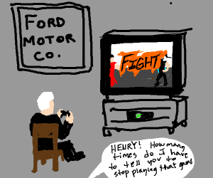 Ford playing mortal combat