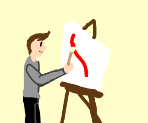 Guy painting