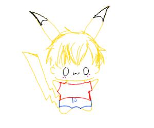 Pikachu person OwO