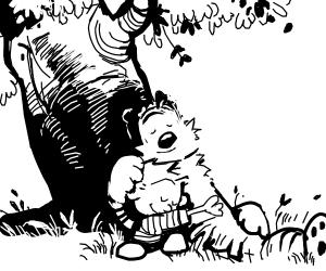 Calvin and Hobbes wholesome hug