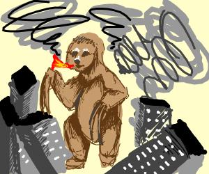 godzilla... but godzilla's a sloth