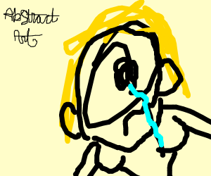 crying blonde woman