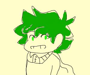 green hair kid