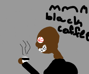 Man loves black coffee