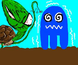 turtle hypnotizes ghost