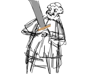 Enthusiastic, elderly woman