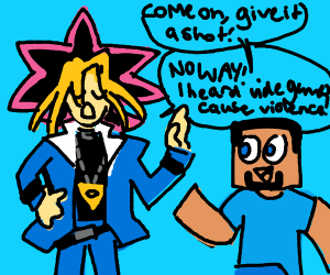Yugi Moto doesn't play minecraft