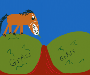 Horse eating some grAss