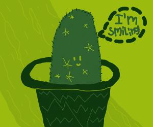 Cactus smiling