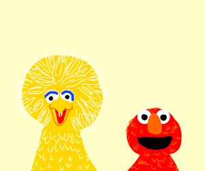 Elmo and Big Bird
