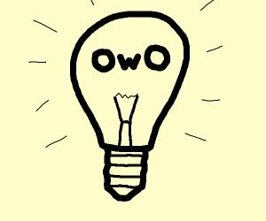lamp bulb owo