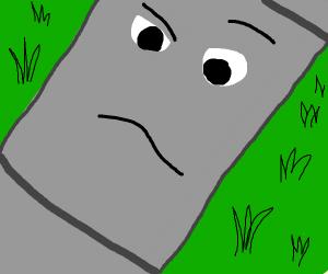 Confused slab of concrete