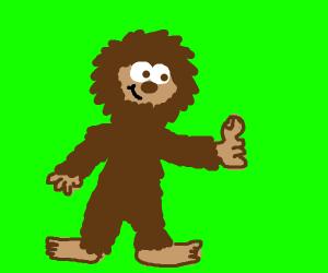 bigfoot giving a thumbs up