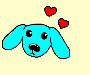 Blue puppy love