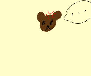 angry bear thing saying something