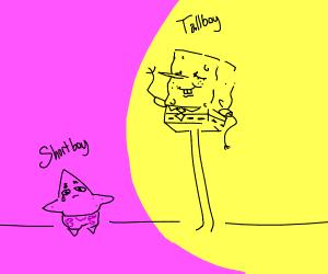 spongebob is taller than patrick star