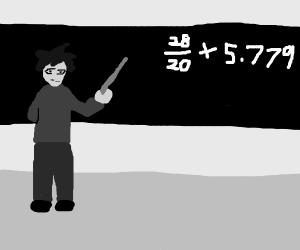 An algebra teacher