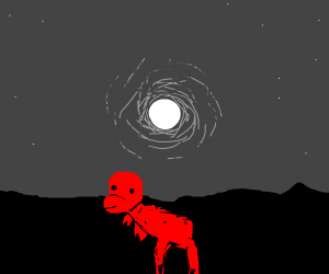 Red Creature on a Moonlit Night