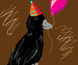 birthday raven
