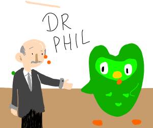 dr.phil shakes dulingo birds hand