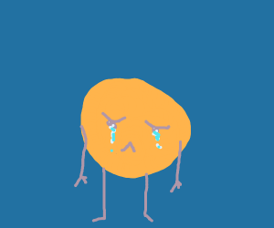 Extremely sad yellow ball
