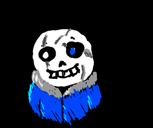 sans with scars