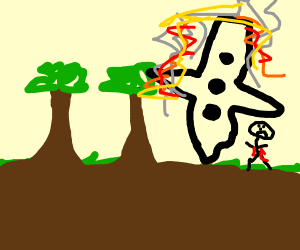 Astronaut crashes a spaceship in the jungle