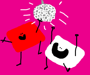 red and white rectangle gets cheered on