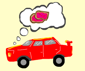 Car dreams of toast