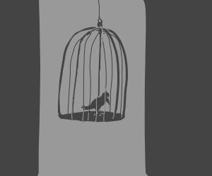 bird house with bird