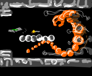 destroy the monster from the arcade game